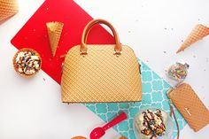 The Waffle Cone Bowler Bag by Shoe Bakery