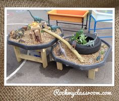 Learning and Exploring Through Play: 44 Tuff Spot Play Ideas Outdoor Play Spaces, Outdoor Areas, Outdoor Fun, Eyfs Outdoor Area Ideas, Outdoor Play Ideas, Natural Play Spaces, Reggio Emilia, Tuff Spot, Eyfs Classroom
