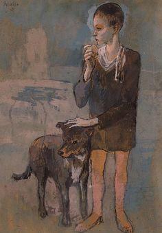 Garçon et chien, par Pablo Picasso