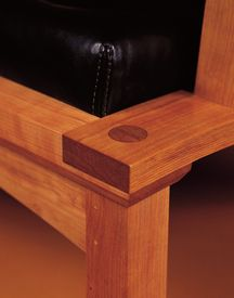 The fine detail of Thos. Moser furniture