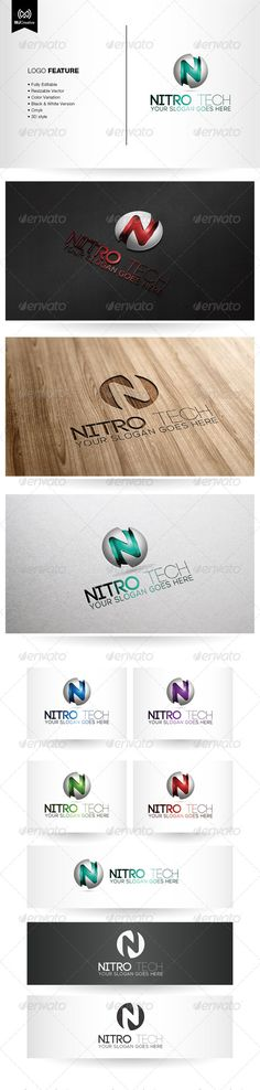 N Tech 3D Logo — Vector EPS #planet #technology • Available here → https://graphicriver.net/item/n-tech-3d-logo/5382577?ref=pxcr