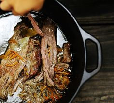 Slow Cooked Brisket (you can use a dutch oven or a slow cooker) (2.5 lb. brisket)