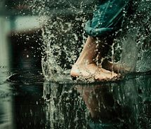 when it rains, go play :)