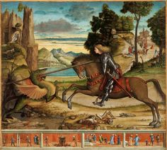 A suggestive exhibition of the famous and great Italian painter Carpaccio will take place in the city of Conegliano situated in the lands of Prosecco Super Johannesburg Art Gallery, Renaissance, Venetian Painters, Italian Painters, Medieval Art, Saint George, Monster, Folklore, Travel Inspiration