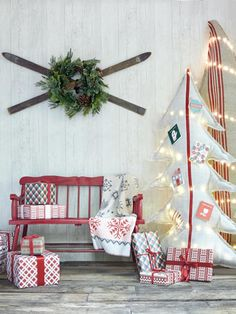 Grainsack Trees: Pin holiday cards to these hand-stitched trees for an easy display. (Grainsack Tree, starting at $299;