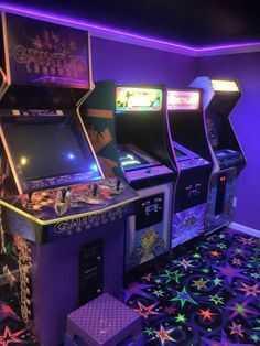 You can find Arcade games and more on our website. Purple Aesthetic, Aesthetic Vintage, Aesthetic Dark, Aesthetic Collage, Aesthetic Grunge, Arcade Room, Purple Walls, Retro Wallpaper, Photo Wall Collage