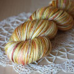 """Sansa"" in soie (50/50 superwash merino/silk - super soft and silky), hand dyed by Phydeaux Designs.  :)"