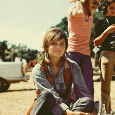 "1971, Madrid, Spain, Claudia Cardinale during the filming of the movie ""Les Petroleuses""  photo by Gianni Ferrari"