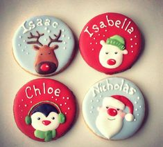 personalised Christmas cookies: Vanessa at The Red Cake Tin love the Rudolph!