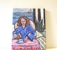 Figure Portrait Painting Original Acrylic Painting by BrookeHowie