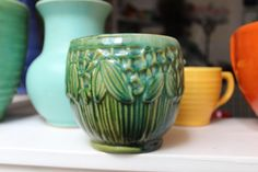 Early Nelson McCoy Jardiniere  by Plantdreaming on Etsy