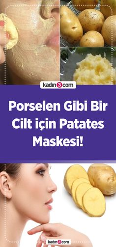 Potato Mask Recipe for Porcelain-Like Porselen Gibi Bir Cilt için Patates Maskesi Tarifi! Potato Mask Recipe for Porcelain-Like Skin! Healthy Oils, Healthy Skin Care, Healthy Foods To Eat, Homemade Facial Mask, Homemade Skin Care, How To Whiten Clothes, Beauty Care, Beauty Hacks, Baking Soda Uses