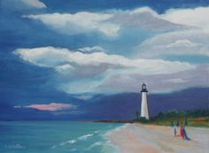 """The Cape Florida Light"", 18"" x 24"", oil on gallery wrapped canvas."
