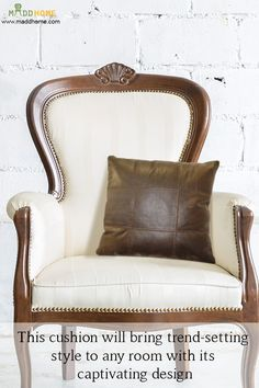 Add the oomph factor to your chic décor   Shop Now:- https://www.maddhome.com/new-cushion-covers/salvador-brown-box-leather-cushion-cover.html  #MaddHome #HomeDecor #CushionCover