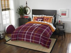 Virginia Tech Hokies Bed In A Bag - Full Soft & Cozy