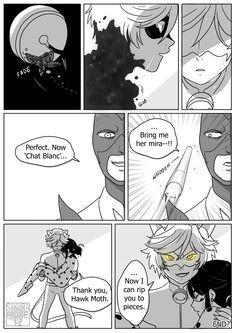 "sakura-rose12: Miraculous Ladybug Comic - Cat Blanc "" you hurt the love of my life I'm gonna destroy you """