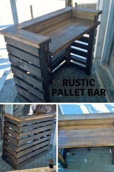 Pallet Bar Project #diy #diyproject #palletfurniture #pallets #ad