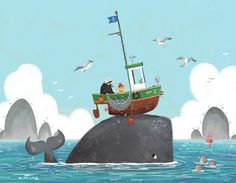 """Check out this @Behance project: """"A Whale of a Time"""" https://www.behance.net/gallery/35497481/A-Whale-of-a-Time"""