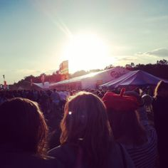 Sunset at Bournemouth's 7's festival