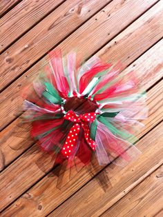 Girls Christmas tutu. Red white and green by EverythingSorella, $28.50