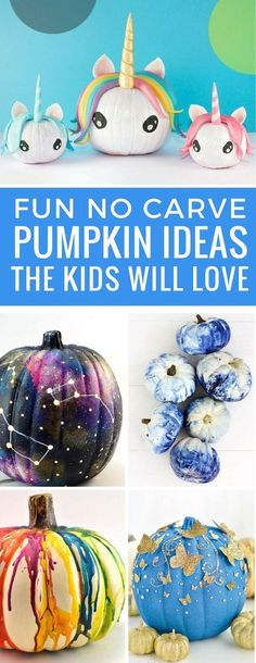These no carve pumpkin ideas are brilliant! The kids will love them!