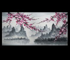 Cherry Blossom Painting