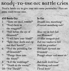 Dungeons And Dragons Game, Dungeons And Dragons Homebrew, Dnd Languages, Dnd Orc, Pen And Paper Games, Dungeon Master's Guide, Dnd Funny, Dnd Characters, Writing Inspiration