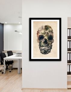 """""""Skull Town"""", Numbered Edition Fine Art Print by Ali Gulec - From $25.00 - Curioos"""