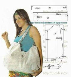 Sjablonen Fashion for Measure: Hoe om te hakken BAG - en LineA lot of free patterns for purses, totes & bags.Image may contain: 1 person, smilingHow to sew a summer bag with your own hands with patterns Handmade Handbags, Handmade Bags, Diy Sac, Diy Bags Purses, Diy Handbag, Handbag Patterns, Craft Bags, Fabric Bags, Big Bags