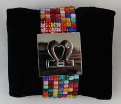 Multi Colored Bracelet With Silver Finished Clasp