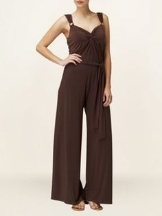 Phase Eight Aretha jumpsuit Brown - House of Fraser