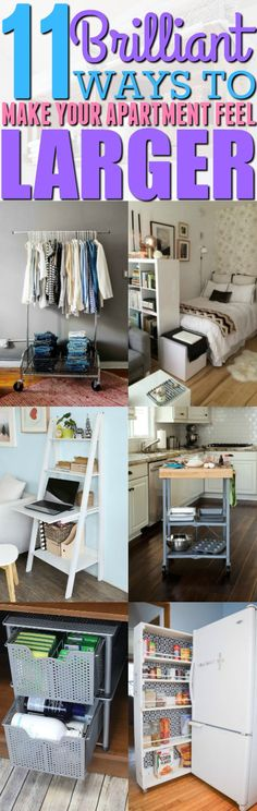 I never thought I would be able to create extra space around my apartment, but now I can thanks to these 11 space-creating hacks. If you live in a small apartment, then you really need to try these hacks. Pinning for later!
