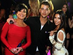 RobKardashian rings in his 25th birthday with his mom and his sister! Kris Jenner and Kim Kardashian celebrate the birthday boy by partying the night away in Las Vegas on March 16.