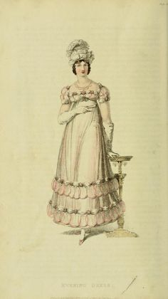 EKDuncan - My Fanciful Muse: Regency Era Fashions - Ackermann's Repository 1817 Regency Dress, Regency Era, 1800s Fashion, Vintage Fashion, Vintage Style, Opera Dress, Empire Silhouette, Magazine Pictures, Vintage Gowns