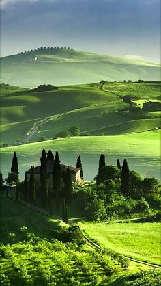 green hills of Tuscany, Italy