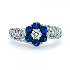 Sapphire and Diamond Ring // J.M. Edwards Jewelry // Cary, NC