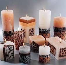 Resultado de imagem para como fazer velas decorativas