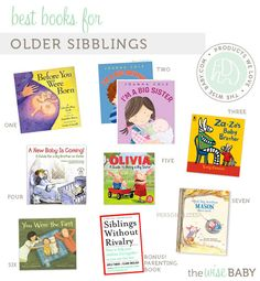 Best books for older siblings when there is a new baby