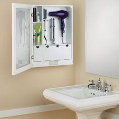 The Mirrored Home Hair Care Station - Hammacher Schlemmer