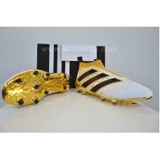 adidas ACE 16 Purecontrol FG - White-Core Black-Gold Metallic cheap  football shoes f4e0fe91173d0