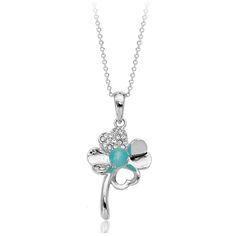 Милый Цветок ожерелье Четыре Листа кулон ювелирные изделия из иу бижутерия
