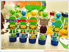 lembrancinhas tartaruga ninja - Pesquisa Google