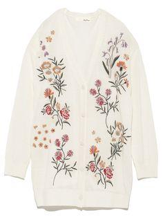 刺繍ニットカーディガン(カーディガン) Lily Brown(リリーブラウン) ファッション通販 ウサギオンライン公式通販サイト