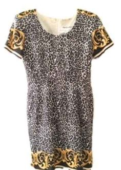 Bloomingdale's Women's Dress Silk Size 10 Short Sleeve  Multi Print NWOT #Bloomingdales