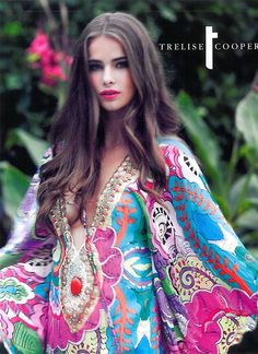 Nicole for Trelise Cooper; one of New Zealand's most acclaimed and successful designers. Love her use of colours reminding you of a tropical forest in the South Island in summertime!