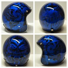 Chemical Candy Customs & Cody Biggs Have Teamed Up To Paint A Limited Run Of 10 Custom Lids. These Tattooed Lids Were Painted With A Sharpi. Custom Motorcycle Paint Jobs, Motorcycle Helmet Design, Custom Paint Jobs, Bike Helmets, Scooter Helmet, Vintage Helmet, Helmet Paint, Custom Airbrushing, Custom Helmets
