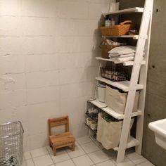 marshさんの、男前,コンクリート打ちっ放し,スマートワンデザイン,リノベーション,タイル張り,棚DIY,バス/トイレ,のお部屋写真