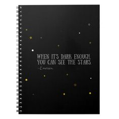 You can see the stars Emerson quote Spiral Notebook