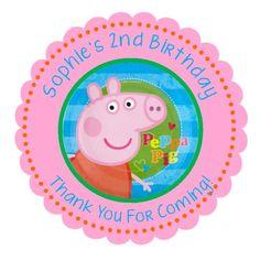 Personalized Peppa Pig Stickers Peppa Pig Birthday