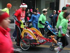 A family affair at the Lewis Gale Jingle Bell Run.
